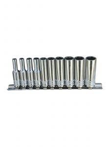 "SP Tools SP20140 Doppen op rail 1/4"" 6-Kant 10-delig metrisch Lang"