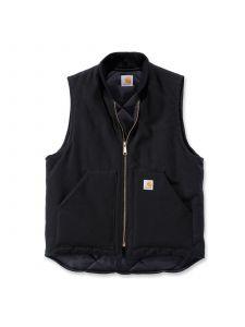 Carhartt V01 Duck Vest Arctic Quilt Lined - Black
