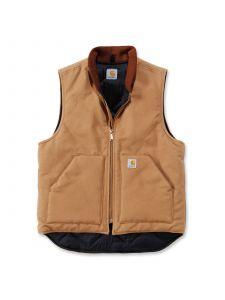 Carhartt V01 Duck Vest Arctic Quilt Lined - C. Brown